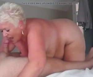 Short Haired Granny Sucking..